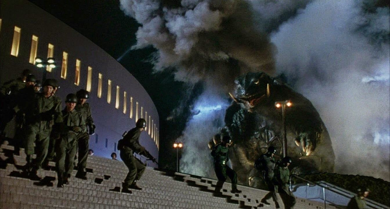 Gamera on the attack in Gamera, The Guardian of the Universe (1995)