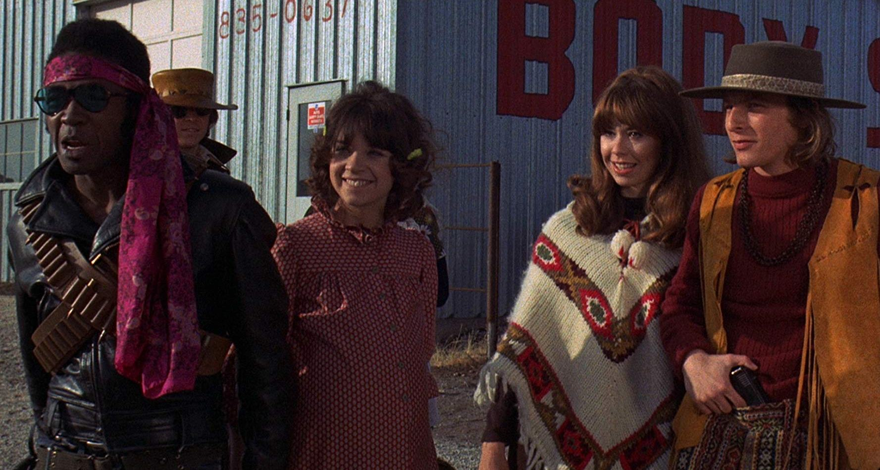 (l to r) Ben Vereen, Cindy Williams, Elaine Giftos and Robert Corff in Gas; or It Became Necessary to Destroy the World in Order to Save It (1970)