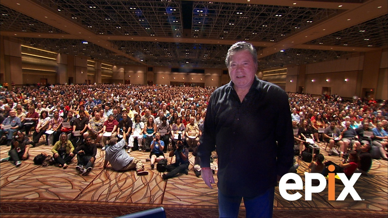 William Shatner before an audience of Star Trek fans in Get a Life! (2012)