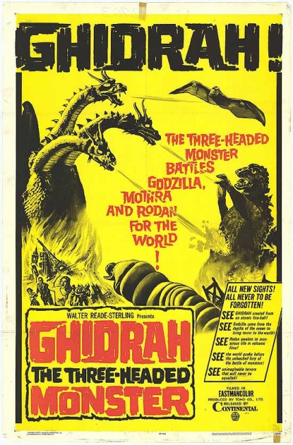 Ghidrah the Three-Headed Monster (1964) poster