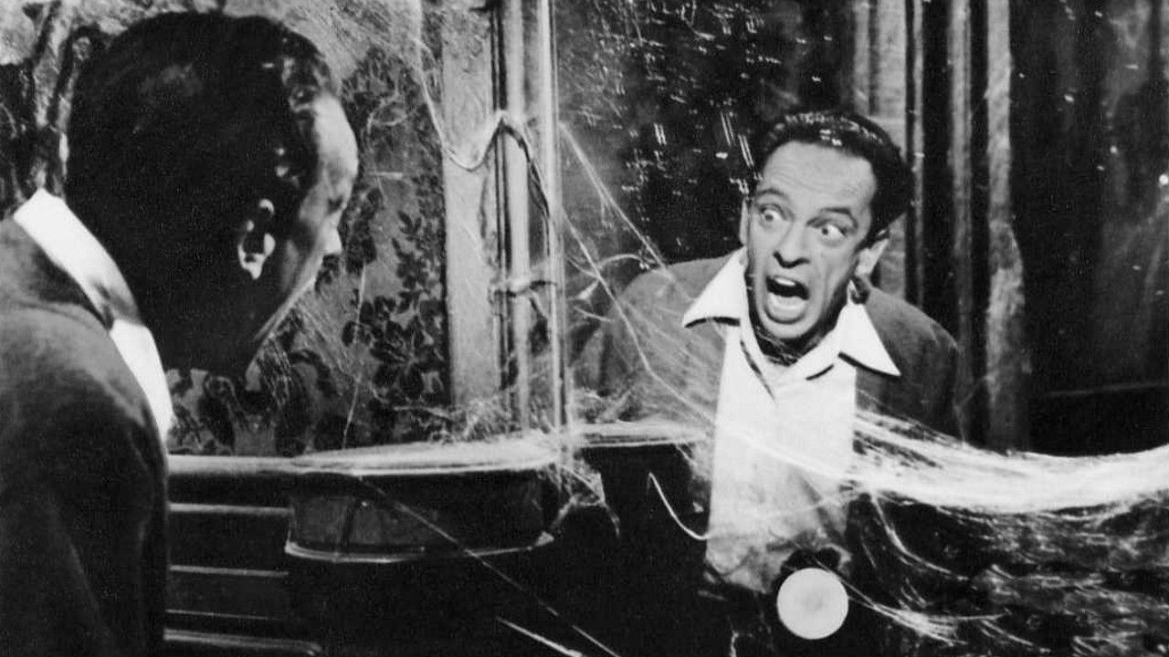 Don Knotss gets scared in a haunted house in The Ghost and Mr. Chicken (1966)