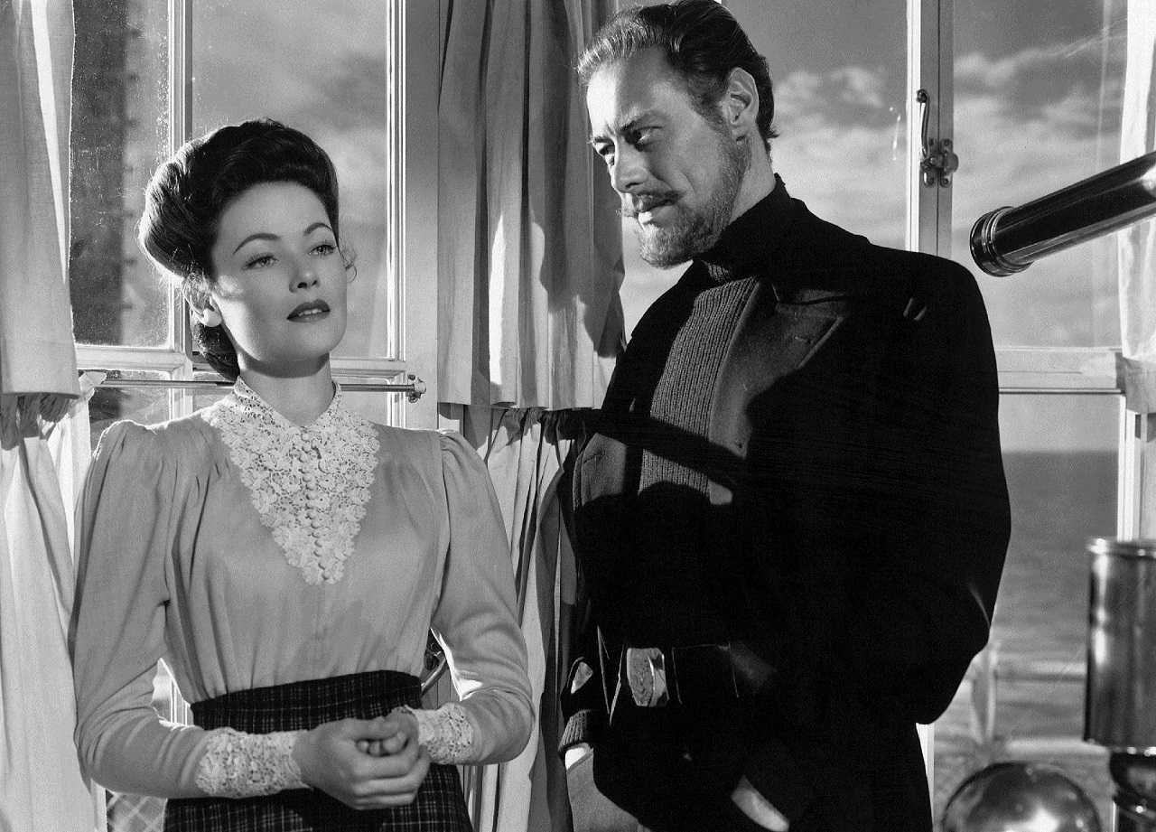 Mrs Muir 9Gene Tierney) and the ghost of Captain Daniel Clegg (Rex Harrison) in The Ghost and Mrs Muir (1947