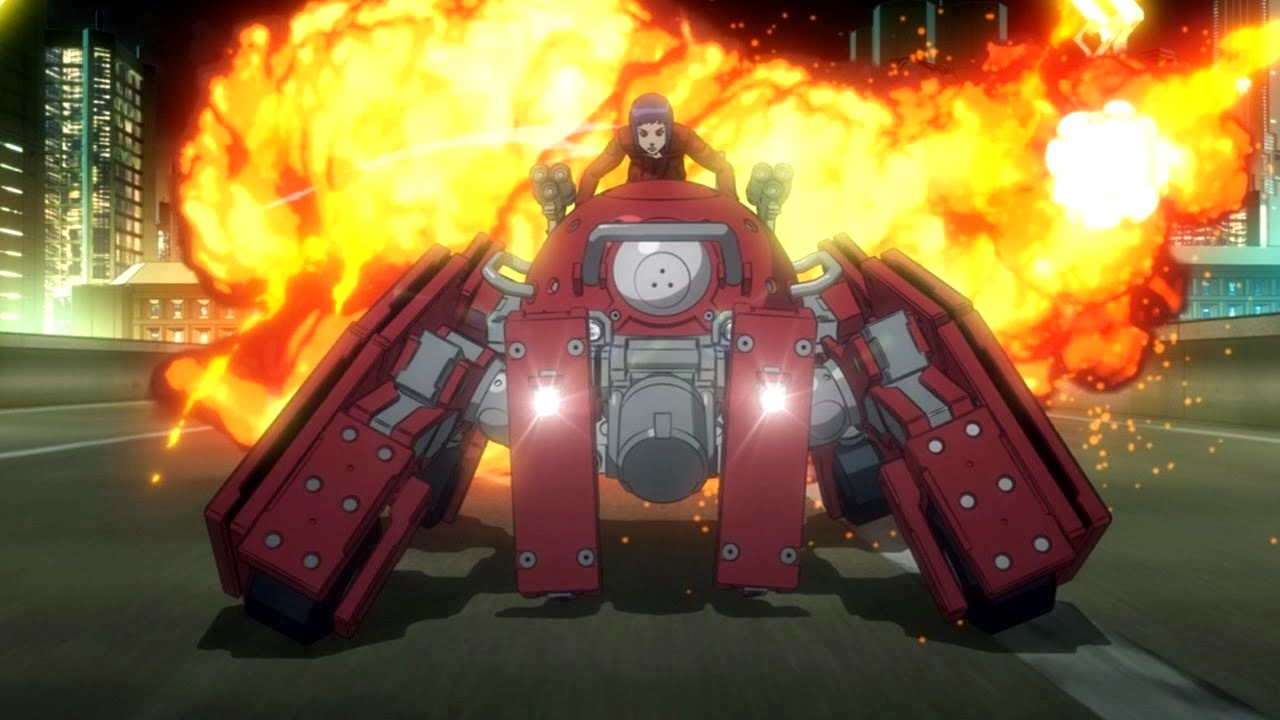 Major Kusanagi aboard the Logicoma robot in Ghost in the Shell: Arise (2013-2014)