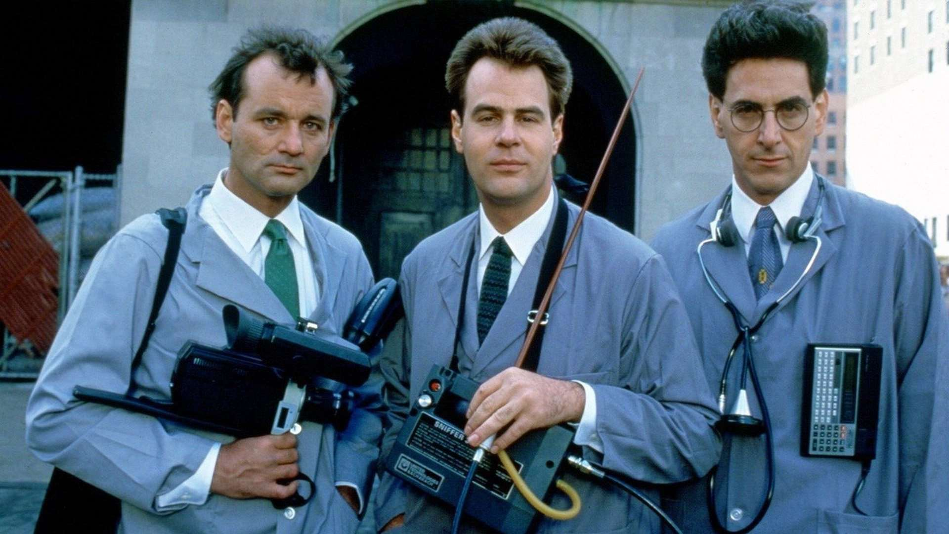 Discredited parapsychologists rebranding themselves as ghostbusters - (l to r) Peter Venkman (Bill Murray), Ray Stantz (Dan Aykroyd) and Egon Spengler (Harold Ramis) in Ghostbusters (1984)