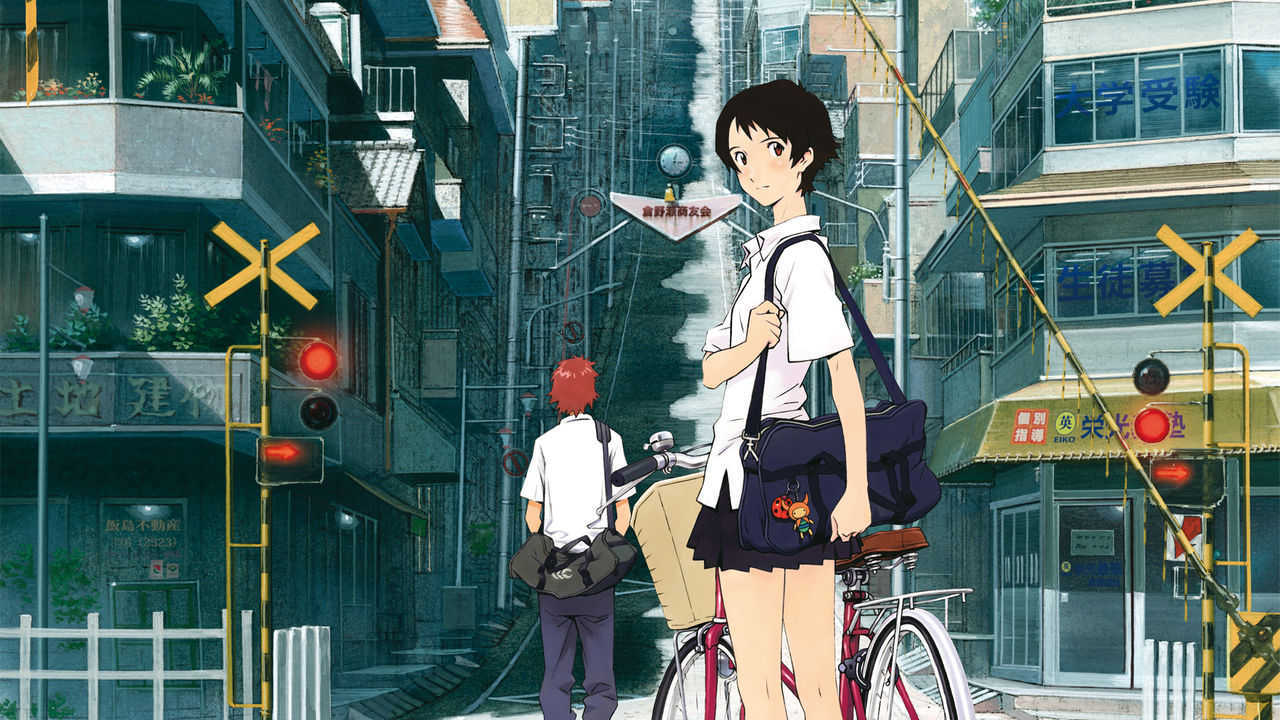 Time-leaping teenager Makoto Konno in The Girl Who Leapt Through Time (2006)