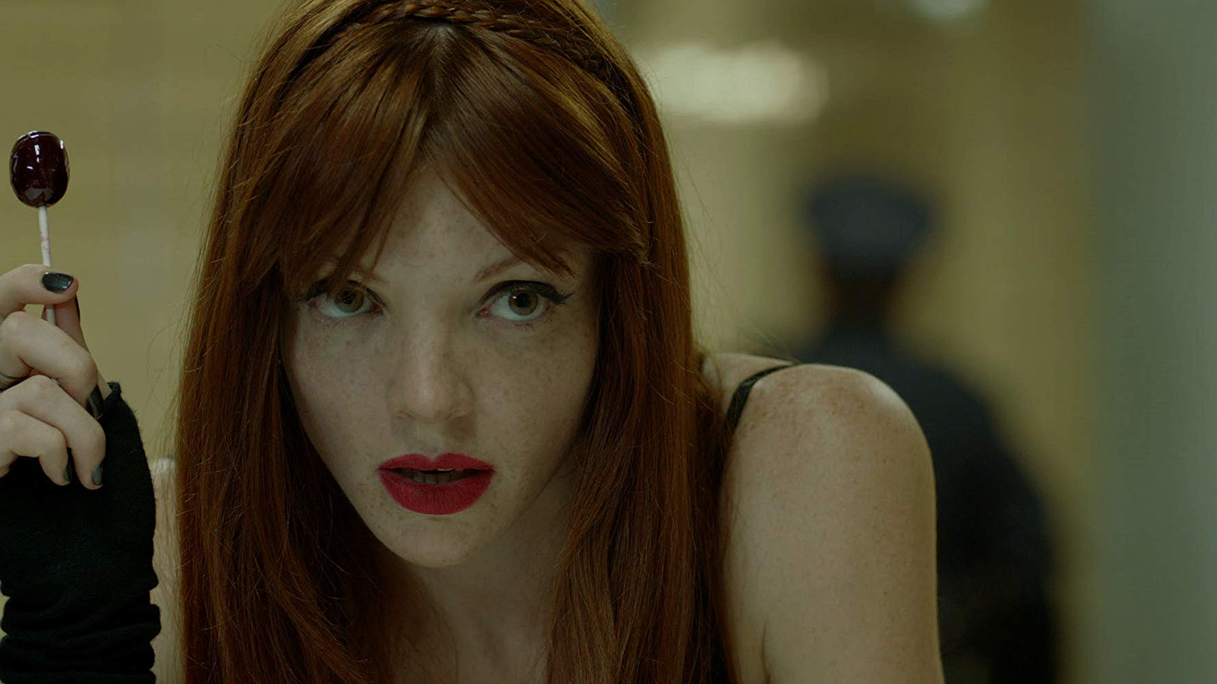Lulu (Nicole LaLiberte) looking to cause some trouble in Girls Against Boys (2012)