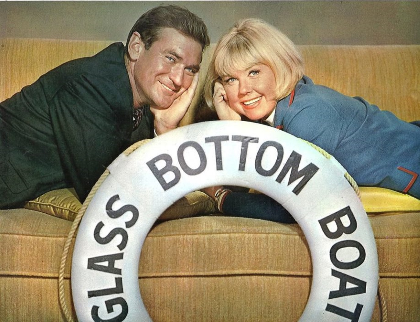 Rod Taylor, Doris Day in The Glass Bottom Boat (1966)