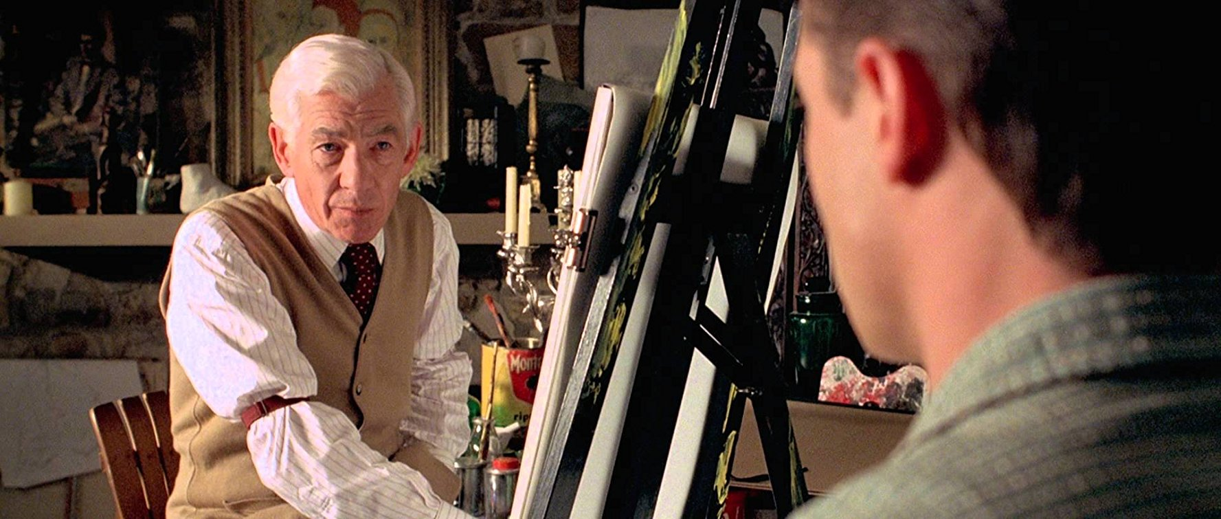 James Whale (Ian McKellen) persuades Brendan Fraser to model for a painting in Gods and Monsters (1998)