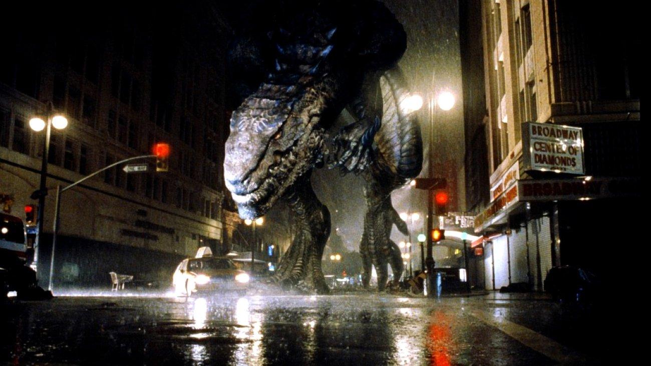 Godzilla trashes New York City in Godzilla (1998)