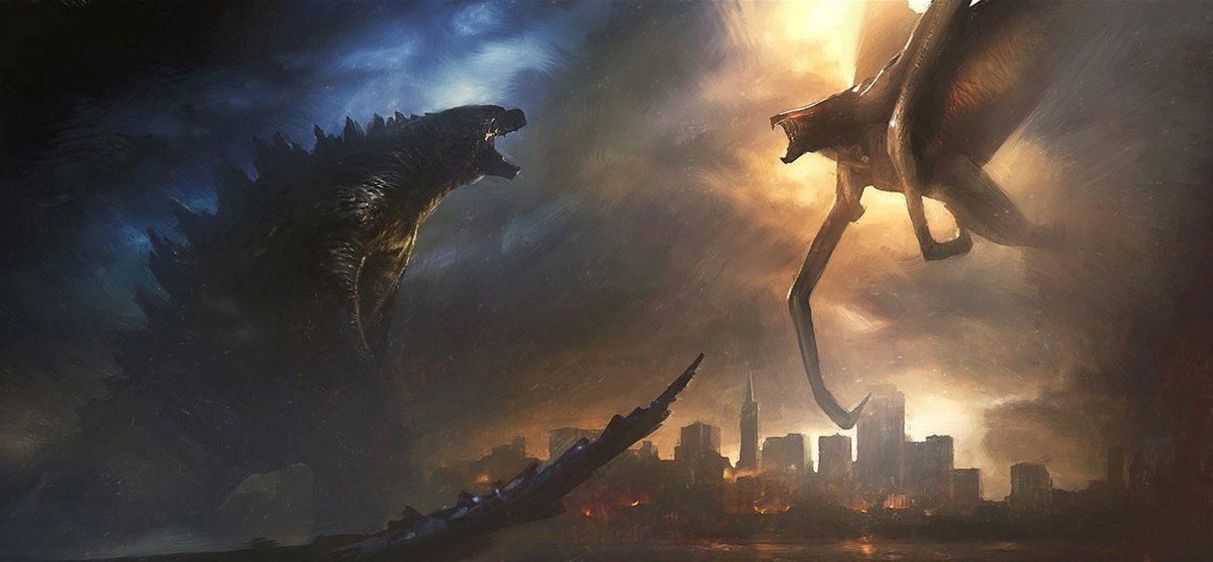 Godzilla vs Muto in Godzilla (2014)