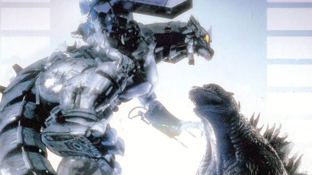 Godzilla and Mecha-Godzilla fight in Godzilla Against Mechagodzilla (2002)