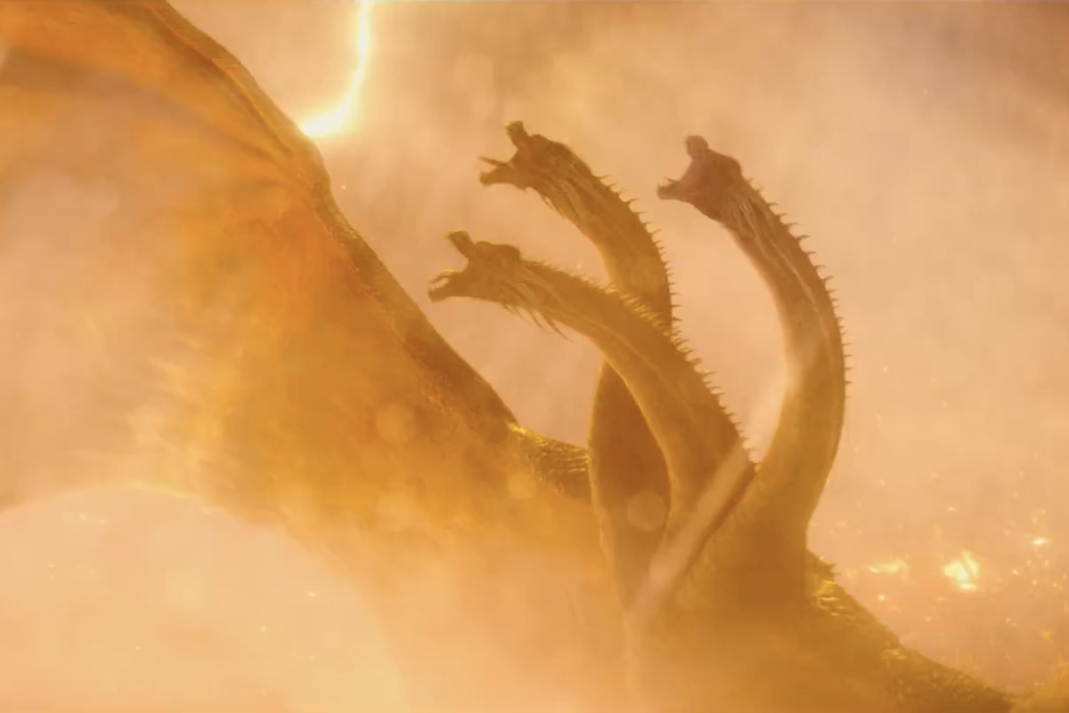 The appearance of Ghidorah in Godzilla, King of the Monsters (2019)