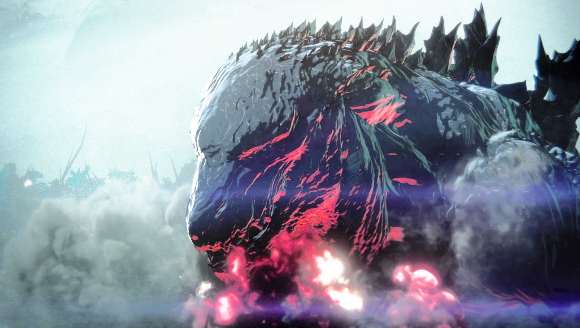 The animated Godzilla in Godzilla Planet of the Monsters (2017)
