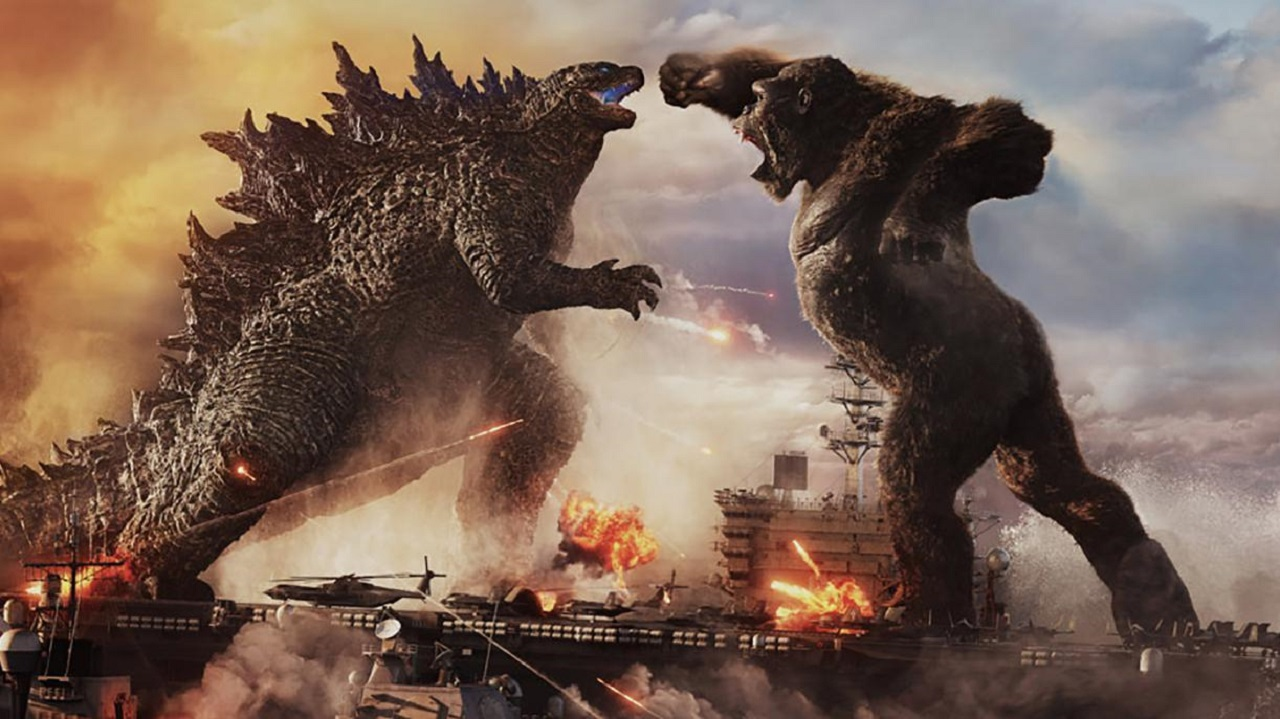 Godzilla and King Kong face off in Godzilla vs Kong (2021)