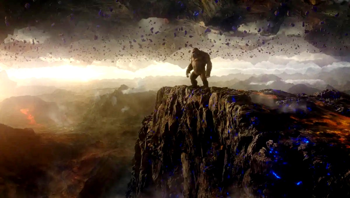 Kong in the Hollow Earth in Godzilla vs Kong (2021)