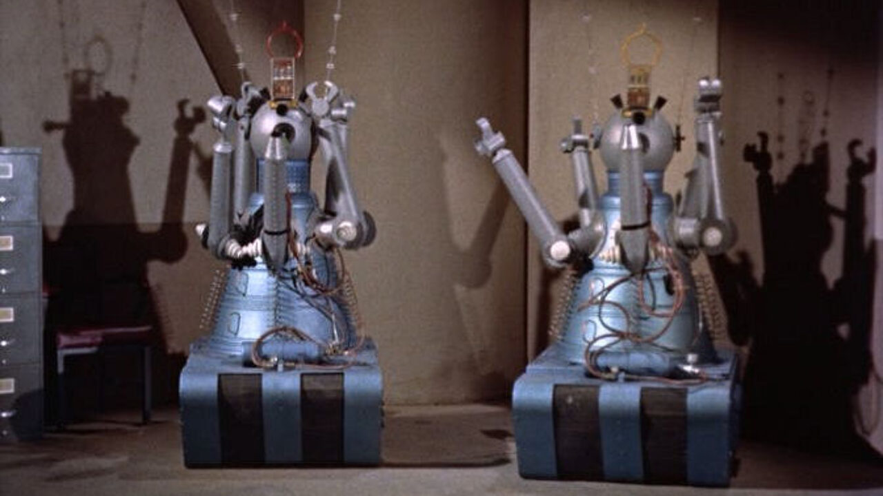 The robots Gog and Magog in Gog (1954)