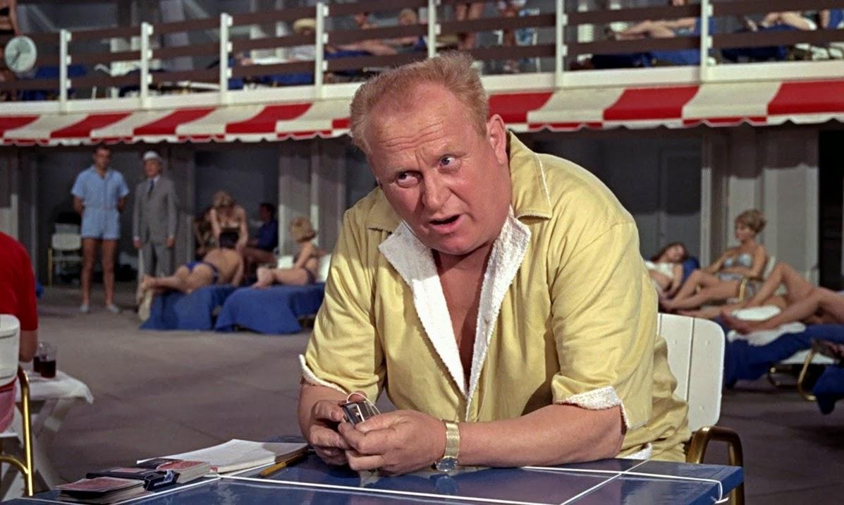 Gert Frobe as Auric Goldfinger, arguably the best of all the James Bond super-villains in Goldfinger (1964)