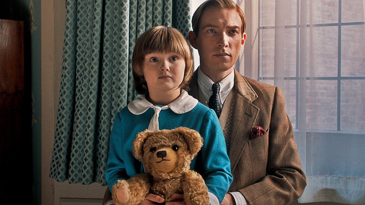 Domhnall Gleeson as A.A. Milne with Will Tilston as son Christopher Robin in Goodbye Christopher Robin (2017)
