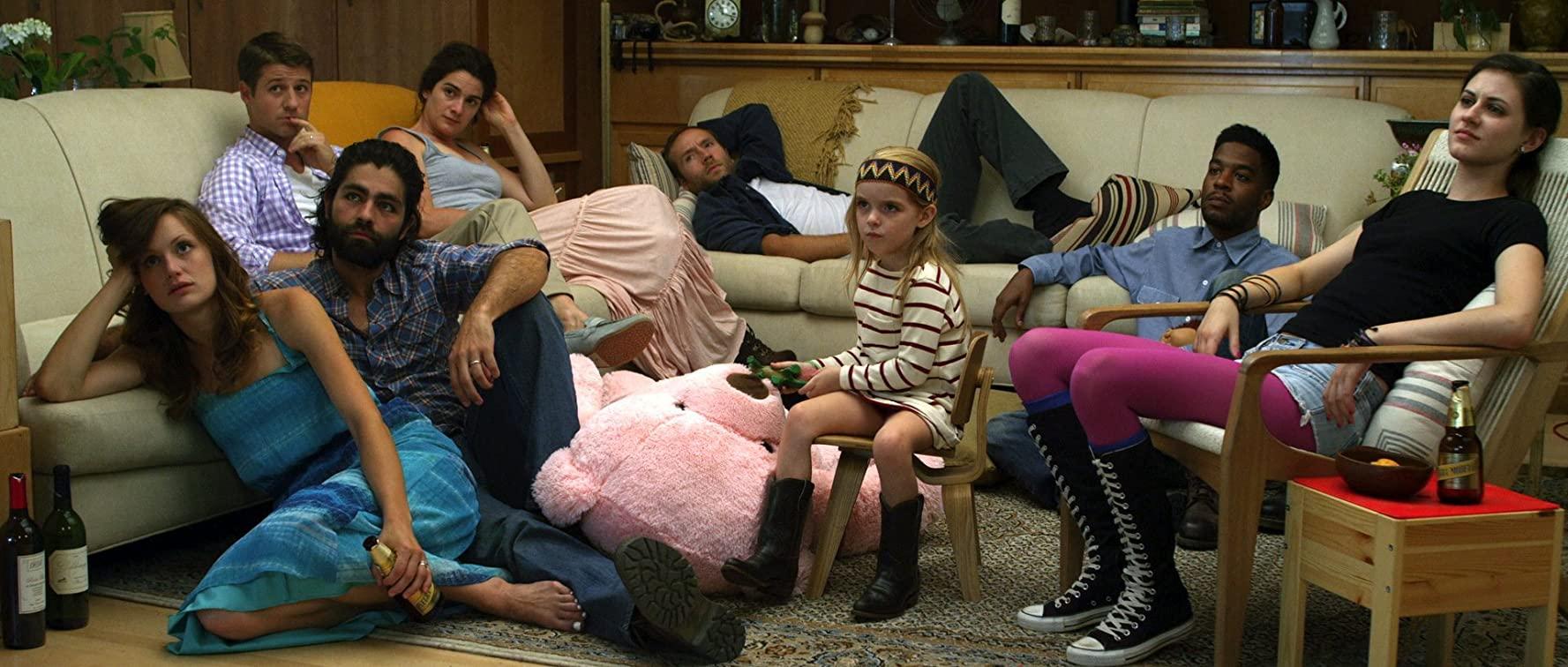 Kerry Bishé, Ben McKenzie, Adrian Grenier, Gaby Hoffmann, Mark Webber, McKenna Grace, Kid Cudi and Remy Nozik in Goodbye World (2013)