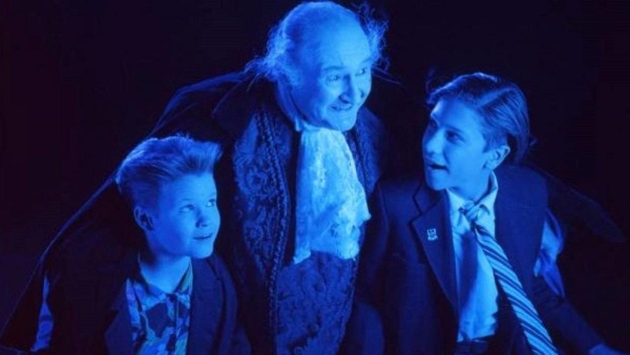 Justin Gocke, Al Lewis and Milan Borich in Grampire (1992)