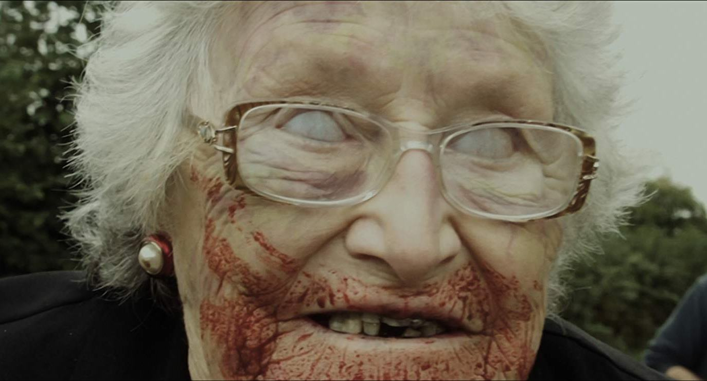 Zombified granny (Abigail Hamilton) in Granny of the Dead (2017)
