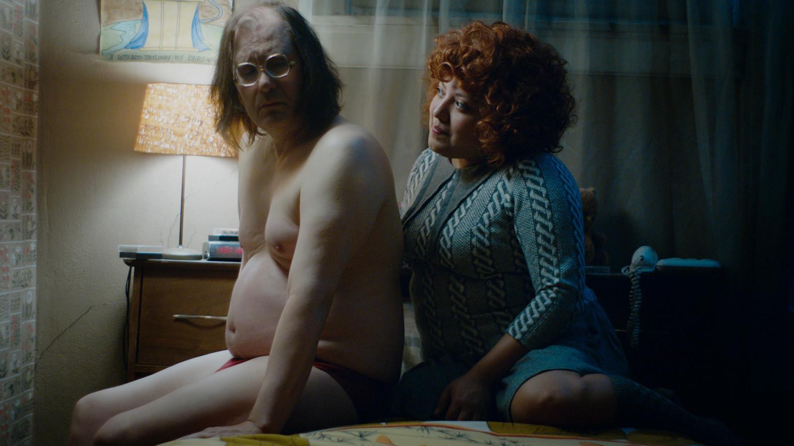 Sky Elobar and Elizabeth De Razzo in The Greasy Strangler (2016)