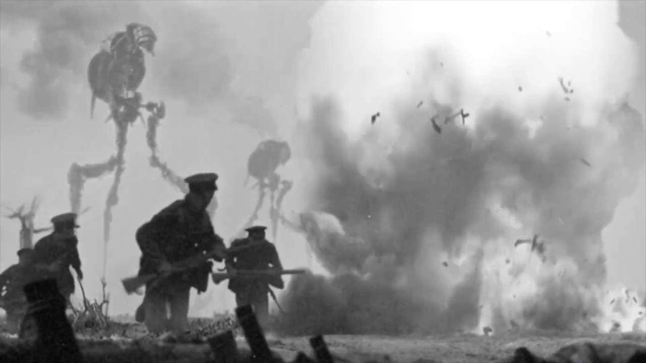Martian tripod war machines invade the WWI battlefield in The Great Martian War 1913-1917 (2013)