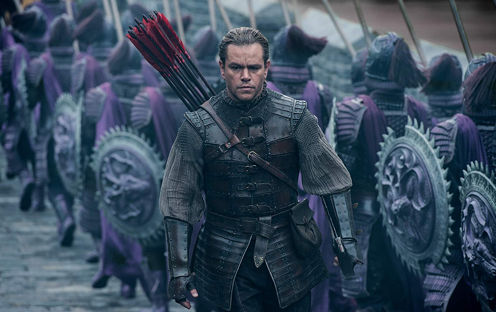 Matt Damon as a Westerner in dynastic China in The Great Wall (2016)