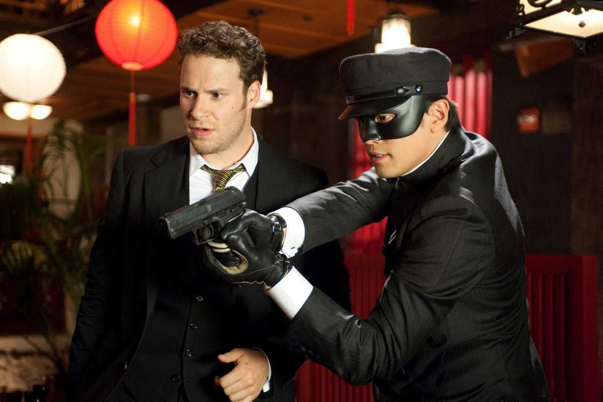 (l to r) Britt Reid (Seth Rogen) and Kato (Jay Chou) in The Green Hornet (2011)