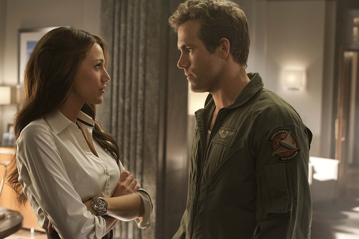 Carol Ferris (Blake Lively) and Hal Jordan (Ryan Reynolds) in Green Lantern (2011)