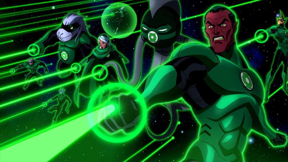 The Green Lantern Corps in Green Lantern Emerald Knights (2011)