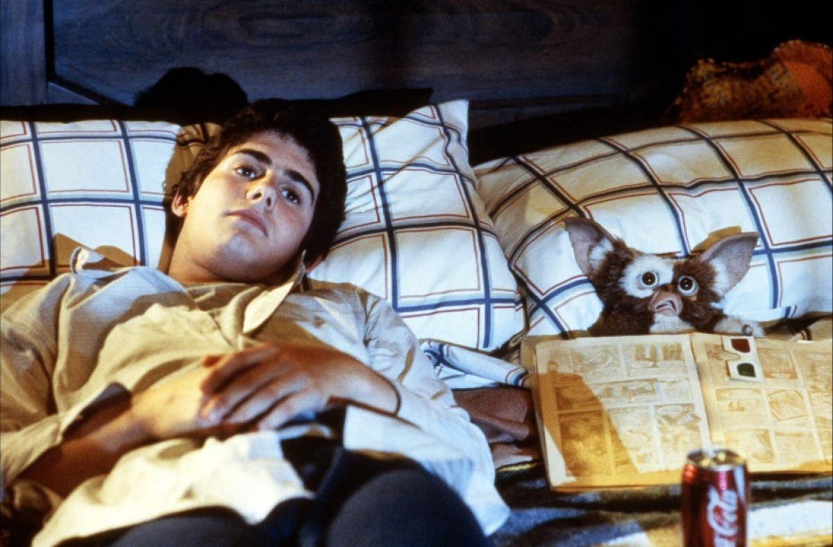 Zach Galligan and Gizmo in Gremlins (1984)