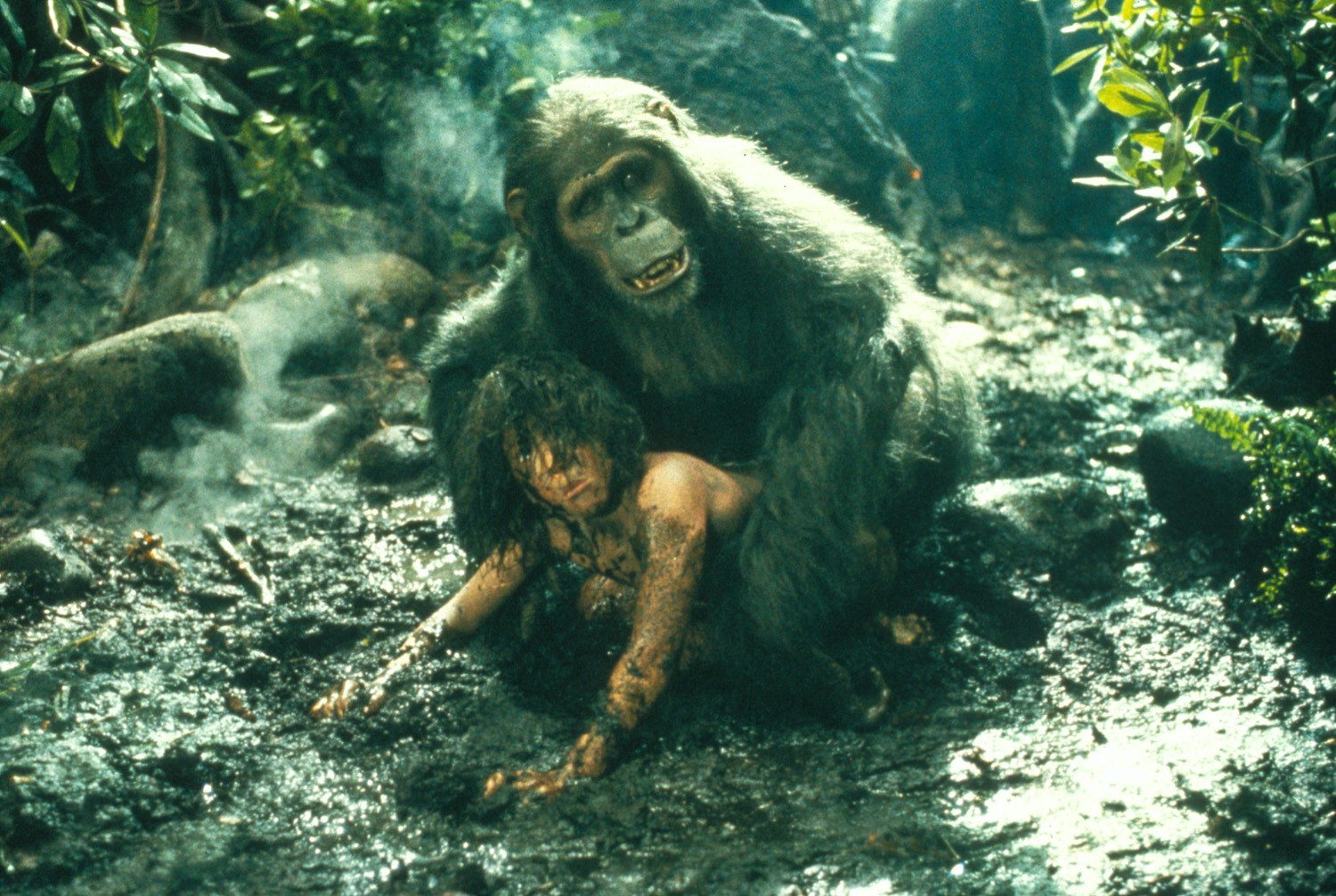 The child John Clayton adopted by the apes in Greystoke The Legend of Tarzan, Lord of the Apes (1984)