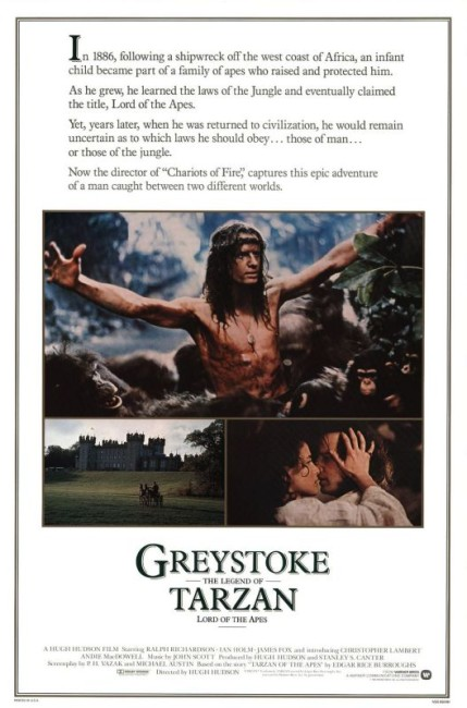 Greystoke: The Legend of Tarzan, Lord of the Apes (1984) poster