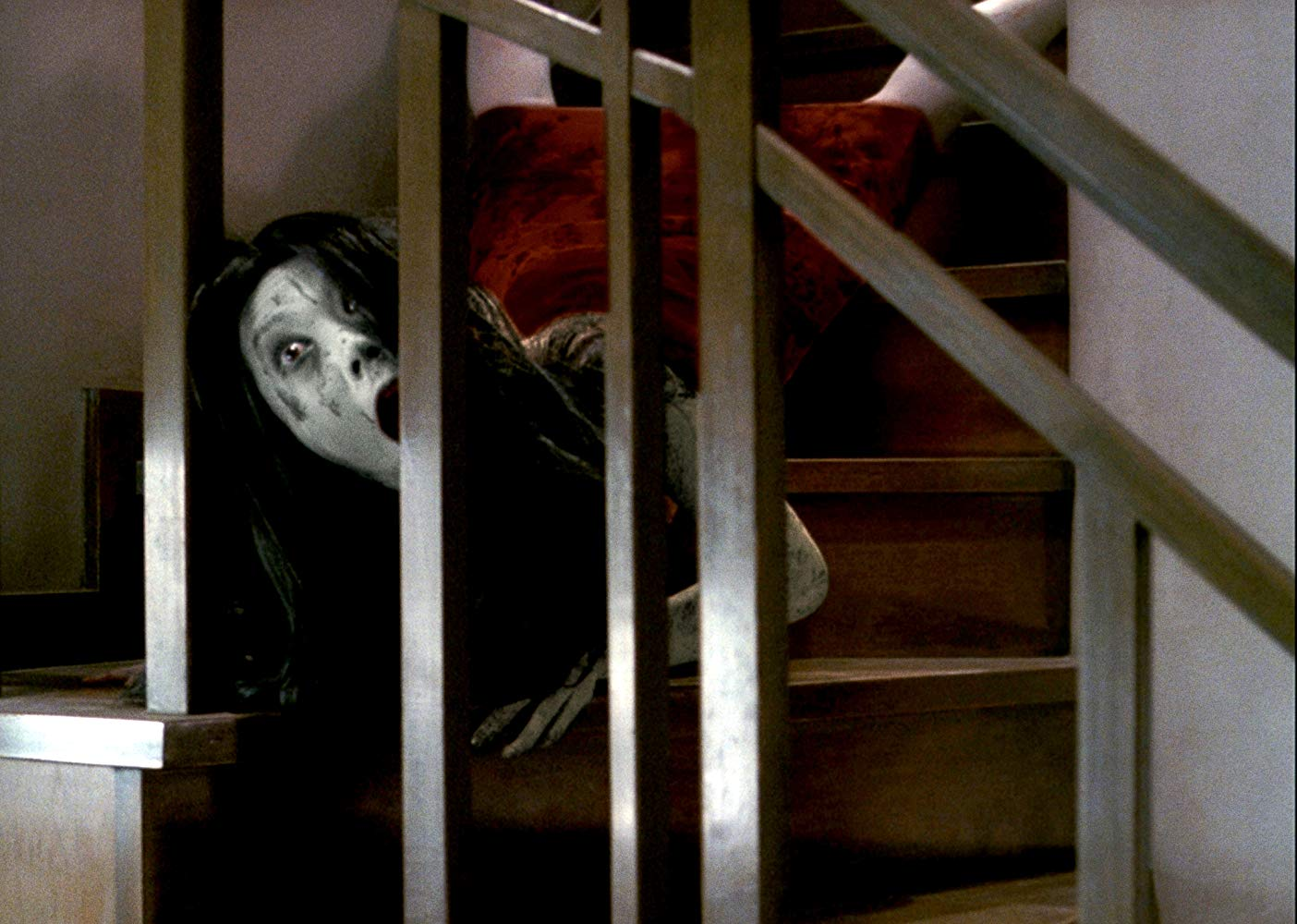 The ghost woman Kayako (Takako Fuji) in The Grudge (2004)