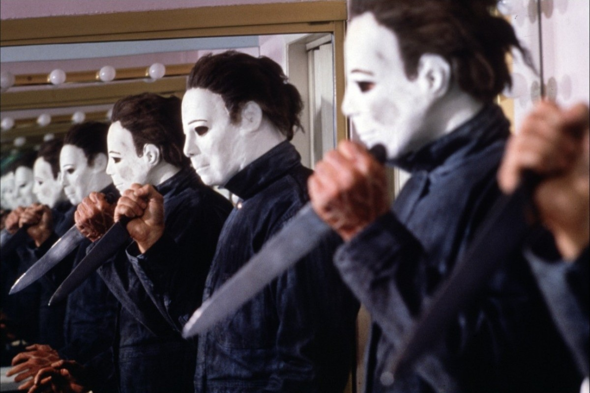 A pursuing Michael Myers (George Wilbur) in Halloween 4: The Return of Michael Myers (1988)