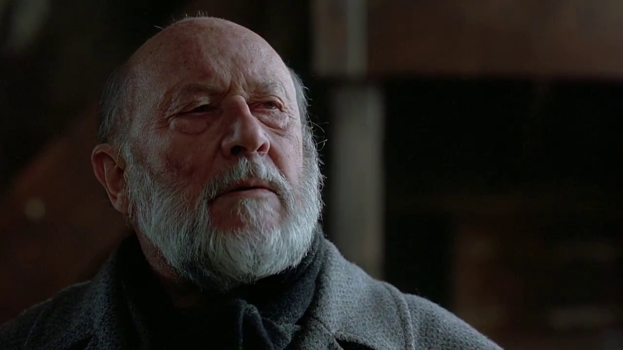 Donald Pleasance in his final appearance as Dr Loomis in Halloween: The Curse of Michael Myers (1995)