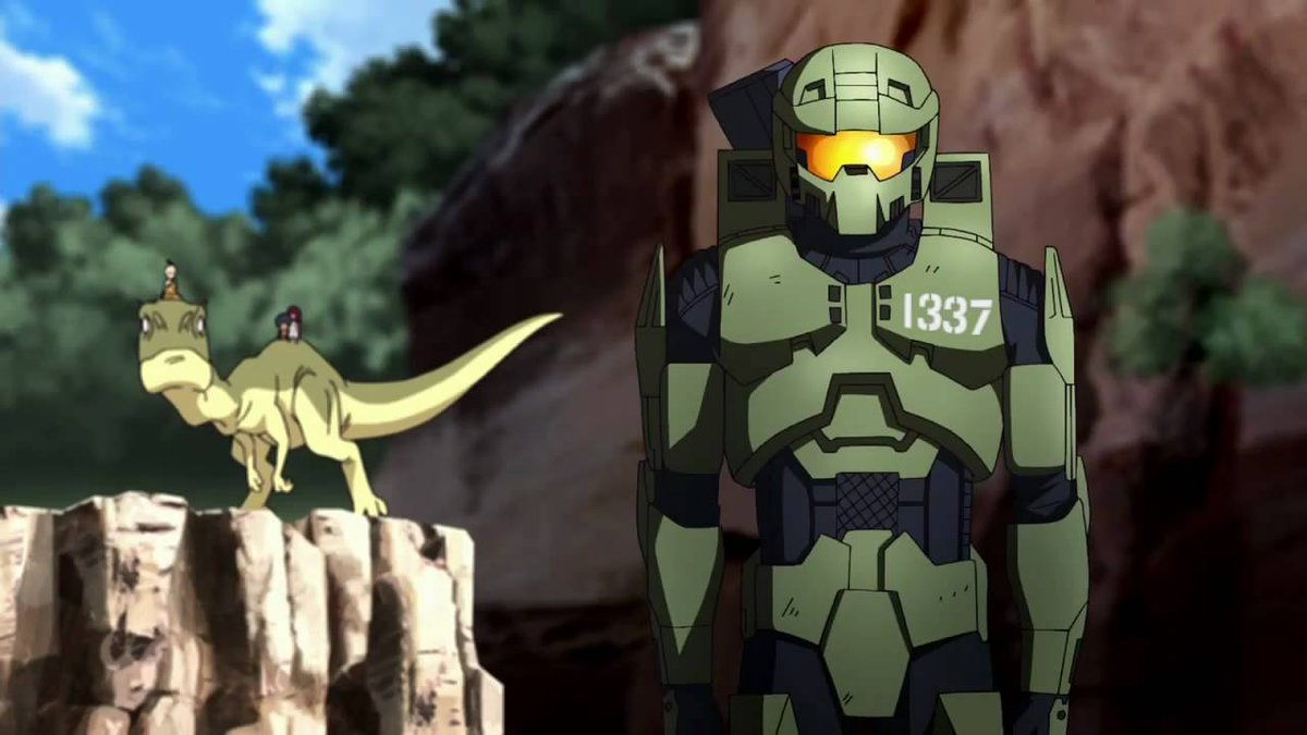 Spartan 1337 left to tend kids on a planet in the Odd One Out episode of Halo Legends (2010)