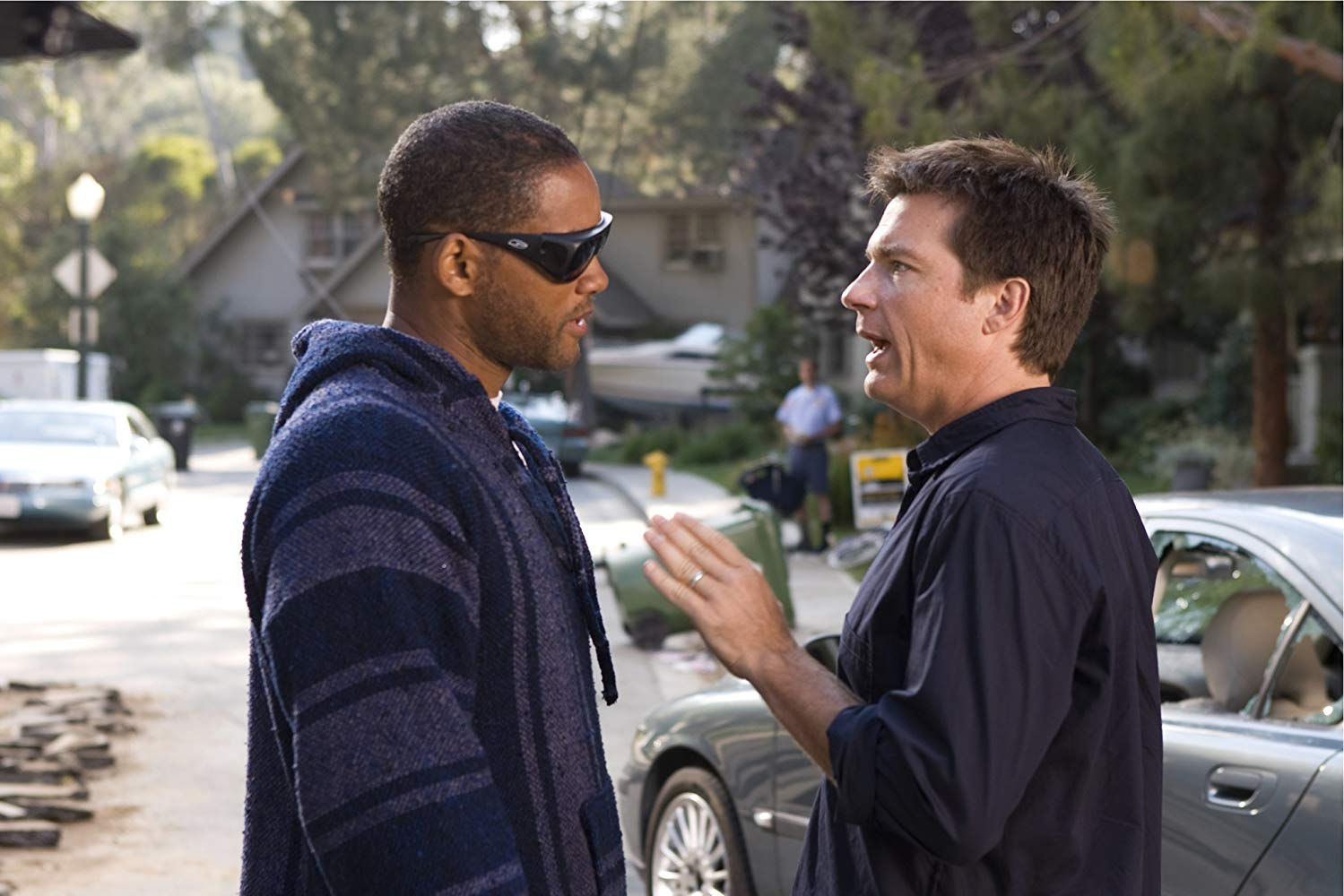 Jason Bateman sets out to rebuild Hancock (Will Smith)'s PR image in Hancock (2008)