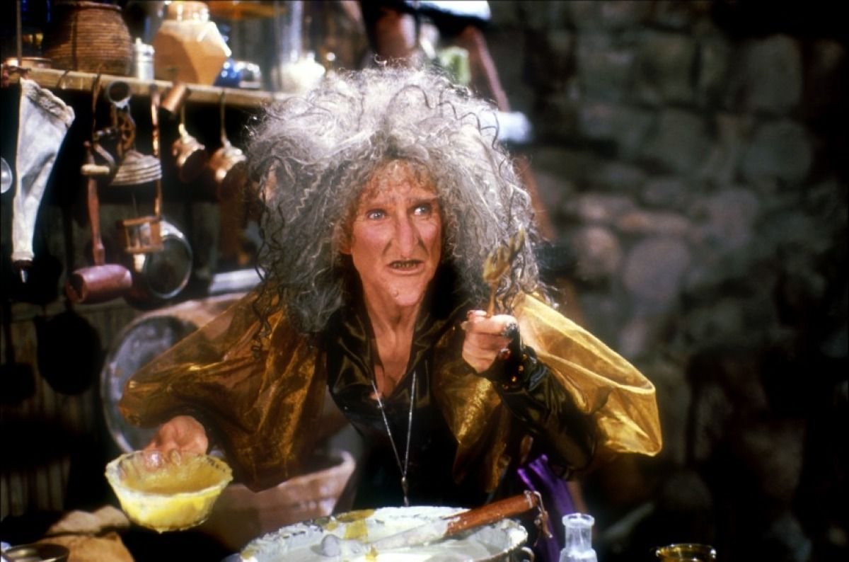 Cloris Leachman as Griselda the witch in Hansel and Gretel (1987)
