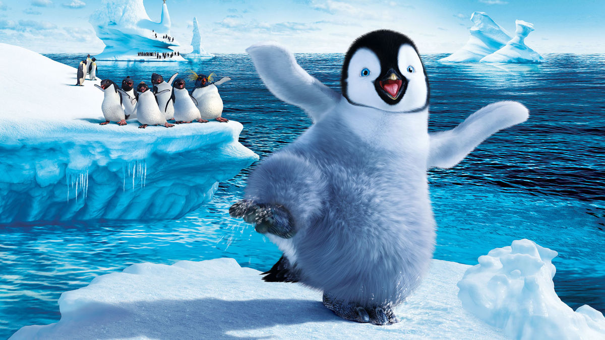 Mumble the tap-dancing penguin (voiced by Elijah Wood) in Happy Feet (2006)