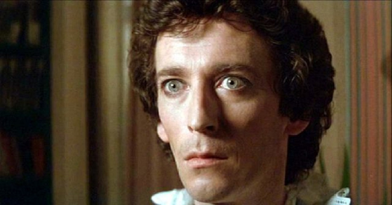 Robert Powell as the enigmatic magician Gregory Wolfe in Harlequin (1980)