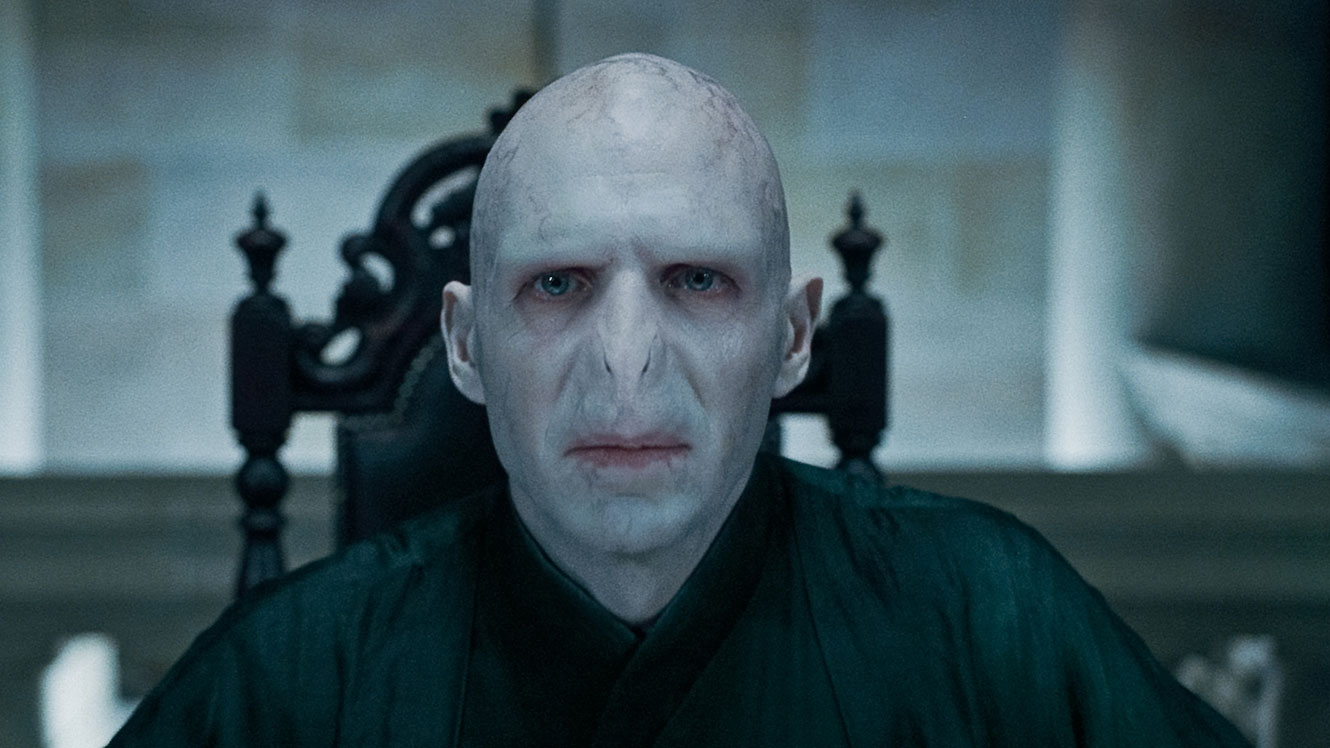 The return of Lord Voldemort (Ralph Fiennes) in Harry Potter and the Deathly Hallows Part 1 (2010)