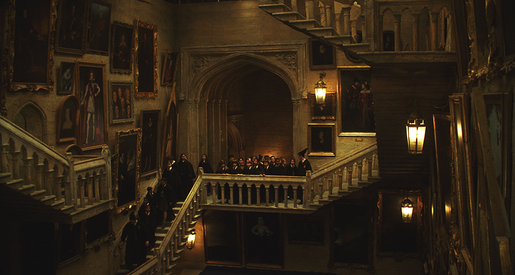 The interior of Hogwarts in Harry Potter and the Sorcerer's Stone (2001)
