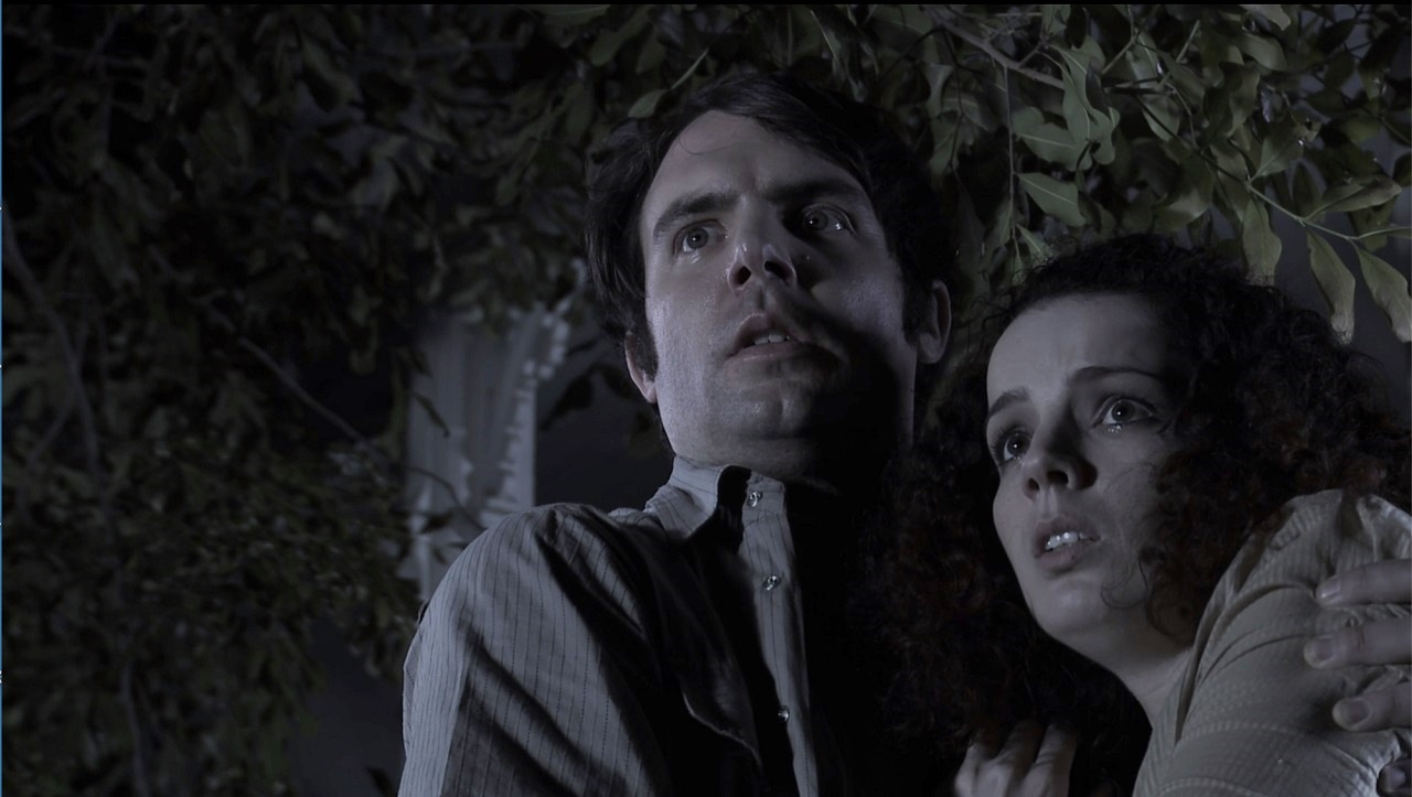 Michael Holmes and Lira Kellerman in The Haunting of Winchester House (2009)