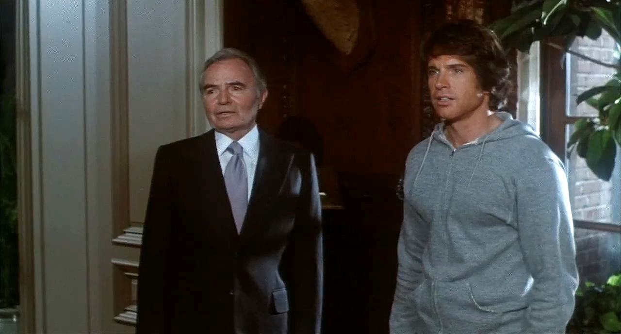 Joe Pendleton (Warren Beatty) and Mr Jordan (James Mason) in Heaven Can Wait (1978)