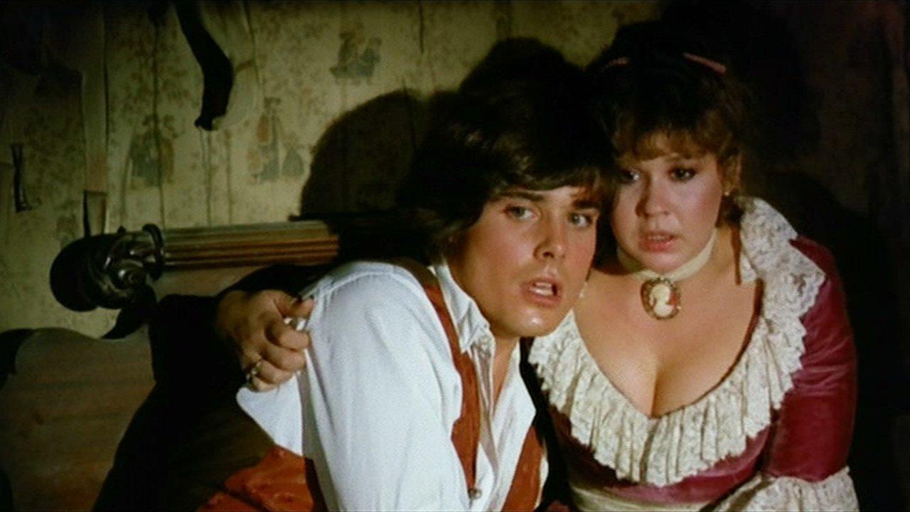 Peter Barton and Linda Blair in Hell Night (1981)