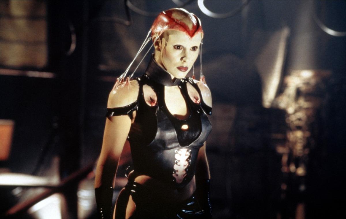 The female Cenobite Angelique (Valentina Vargas) in Hellraiser: Bloodline (1996)