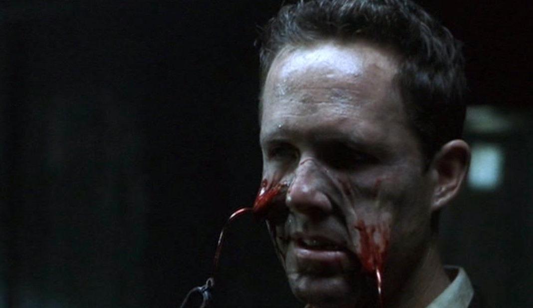Dean Winters torn apart by Cenobites in Hellraiser: Hellseeker (2002)