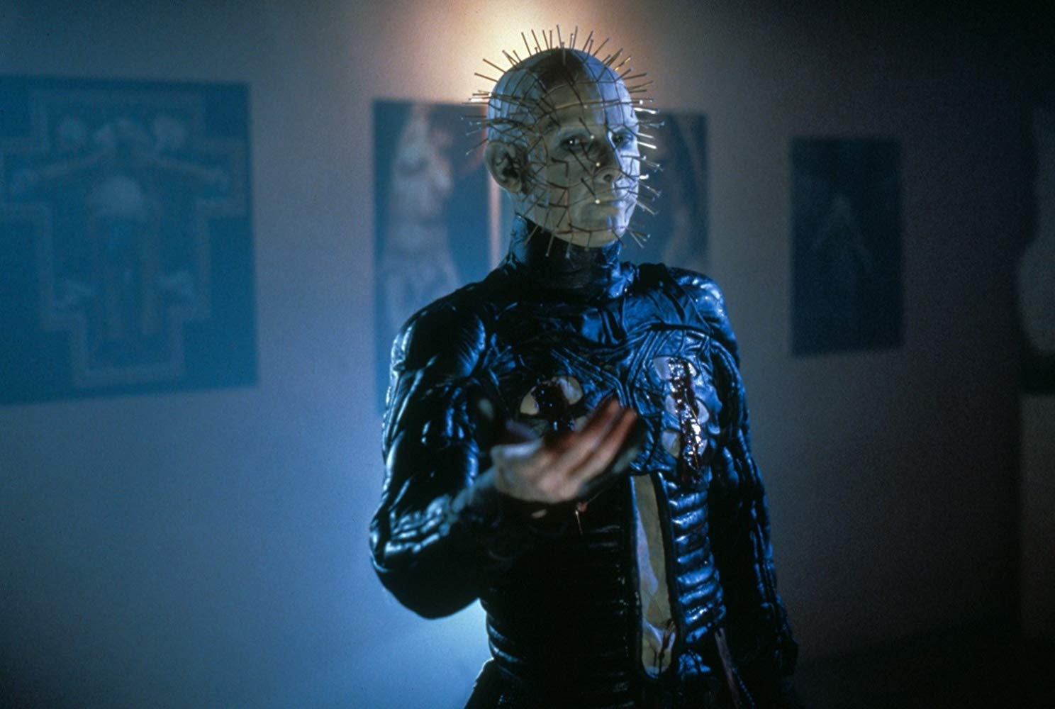Doug Bradley back again as Pinhead in Hellraiser III: Hell on Earth (1992)
